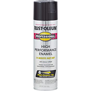 Rust-Oleum 7579838 Enamel Spray Paint, 15 Oz, Gloss Black, 15 Fl Oz