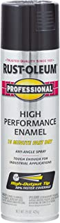 Rust-Oleum 7579838-6 PK Professional 7579838 High Performance Enamel Spray Paint, 15 oz, Gloss Black, 6-Pack,