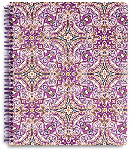 Vera Bradley Large Spiral Notebook with Pocket and 160 Lined Pages, Dream Tapestry