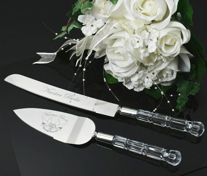 Wedding Finally resale start Cake knife Server Set Kitchen gadgets access Mesa Mall Silver
