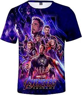 PANOZON Camiseta Unisex Impresión de Vengadores Endgame para Fanes de Película Avengers