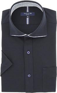 [タカキュー] TAKA-Q 半袖 COOLBIZ パイピング カッタウェイ ポロ 110205721402737 メンズ