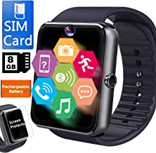 Smart Watch for Android Phone-[Free SIM 8GB SD Card]Business Smartwatch for Men Women with Full Touchscreen Two-Way Calling Camera Music Player,Unlocked Cellphone Watch Band Gift for College Student