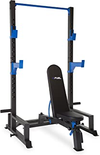 FUEL Performance Deluxe Power Cage and Adjustable Utility Bench Set/Rack Only/Bench Only