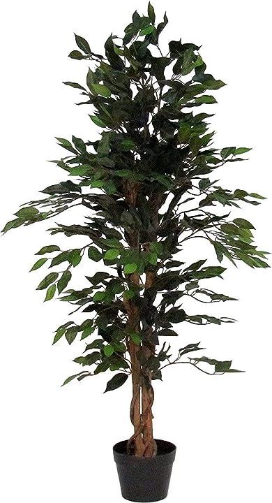 Pianta di ficus benjamin verde - albero artificiale da arredo DPFG200v2