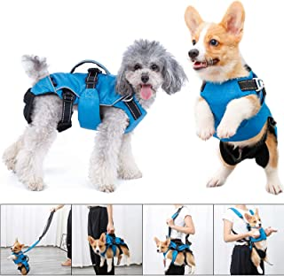 4 in 1 Multi Functional Dog Carrier Backpack , Dog Warm Vest Clothes, Dog Carrier Slings Bag , Dogs Collar Harness with Le...