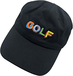f8933c9380a608 wuxianyong Golf Dad Hat Baseball Cap 3D Embroidered Adjustable Snapback  Unisex Black