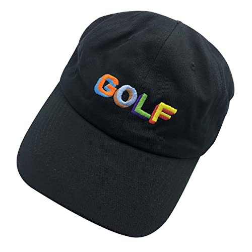 93f5762fc382 wuxianyong Golf Dad Hat Baseball Cap 3D Embroidered Adjustable Snapback  Unisex Black