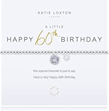 Katie Loxton A Little Happy Birthday Silver Women's Stretch Adjustable Charm Bangle Bracelet