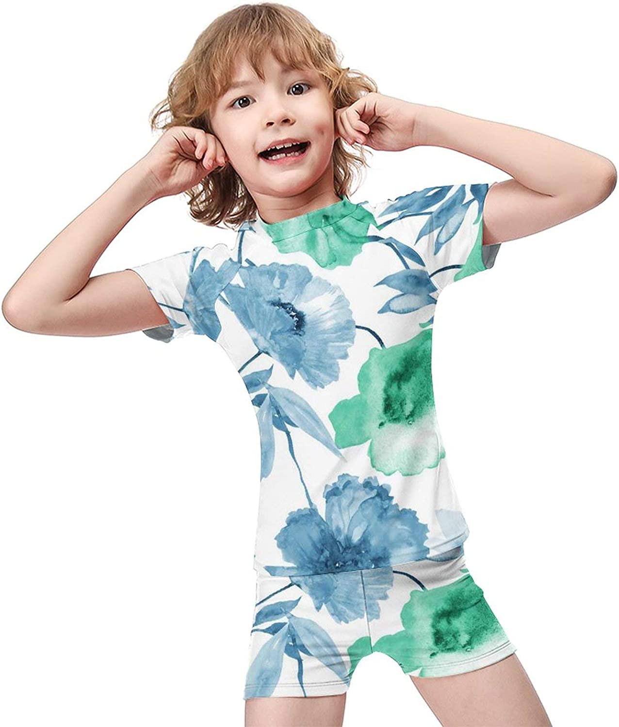 Boys Two Piece Swimsuit Kids National products Swim Sleeve Suit Bathing Mesa Mall Short Set