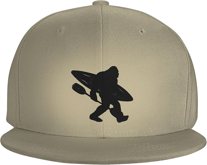 Bigfoot Lumberjack Logger with Axe and Chainsaw Flat Brim Baseball Hat Cowboy Hat Sun Hat Unisex