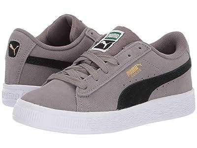 Puma Kids Suede Classic (Little Kid) (Charcoal Gray/Puma Black) Boys Shoes
