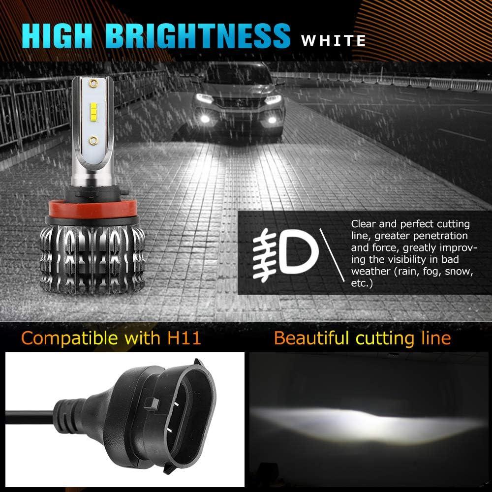 H7 LED Headlight Bulbs for Low Beam//Fog Light//High Beam 6500K Super Bright White LED Headlight Conversion Kit CREE Chips IP68 Waterproof,BraveWAY K1-QH-W Series