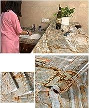 Imperm/éable Huile Preuve 60cmx100cm Noir Huangzhiping Marbre Adh/ésif Vinyle Table Porte Autocollant Papier Peint pour Meubles D/écorative Cuisine Salle /à Manger