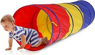 Barn lek tunnel barntunnel, pop up-tunnel bärbar baby tunnel krypande hopfällbar toddle baby krypning tub tunnel tält för ...