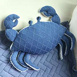 S-DEAL Giant Crab Plush Pillow Toy Stuffed Throw Pillow Marine Soft Cushion for Baby Boy Girl Pet Home Office Party Decoration