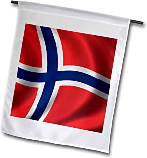 3dRose fl_155029_1 Flag of Bnorway Waving in The Wind Country National Norwegian Garden Flag, 12 by 18-Inch