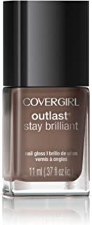 COVERGIRL Outlast Stay Brilliant Nail Gloss Toasted Almond 220, .37 oz (packaging may vary)