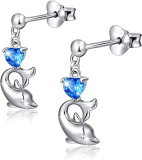 girls dolphin earrings