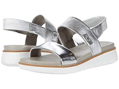Cole Haan Zerogrand Global Double Band Sandal (Argento Specchio/Argento Suede/Optic White) Women