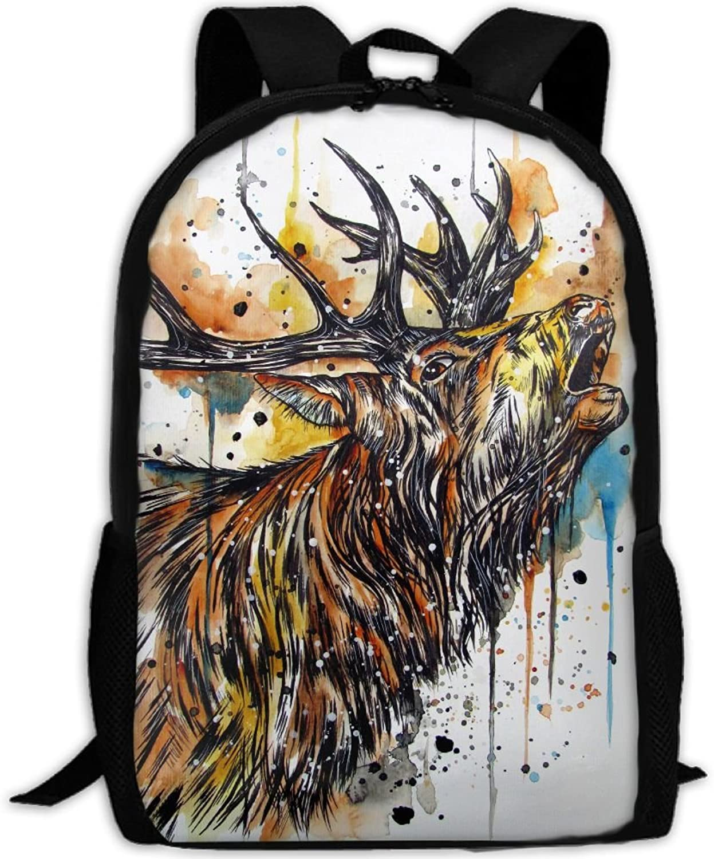 Backpack Briefcase Laptop Travel Hiking School Bags Roar Ox Daypack Shoulder Bag
