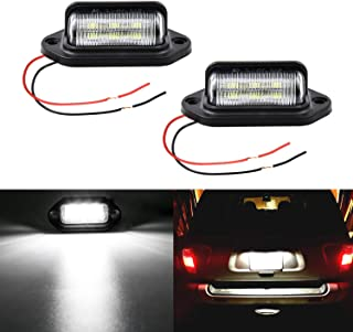 LivTee Waterproof 12V LED Tag License Plate Lamp Light for Truck SUV Trailer Van, Step Courtesy Lights, Dome Cargo Lights or Under Hood Light, Xenon White(2-Pieces)