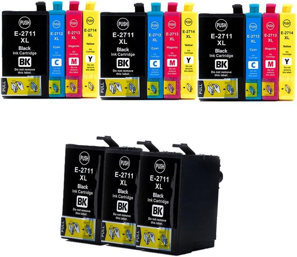 caidi/® Sustituir Para Epson 27 27 x l T27 T2711 T2712 T2713 T2714 cartuchos de tinta de gran capacidad compatible con Epson WorkForce wf7110 wf7610 wf7620 wf3620 wf3620 wf3640 wf-7710 impresora