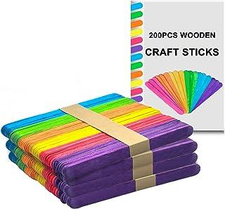 Couleur Craft Lollipop Sticks Wooden lolly ice pop Kids Building Art Design