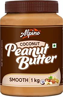 Alpino Coconut Peanut Butter Smooth 1 KG | India's 1st Coconut Peanut Butter | Made with Roasted Peanuts & Goodness of Coc...