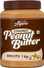 Alpino Coconut Peanut Butter Smooth 1 KG | India's 1st Coconut Peanut Butter | Made with Roasted Peanuts & Goodness of Coconut | 100% Non-GMO | Gluten-Free | Vegan