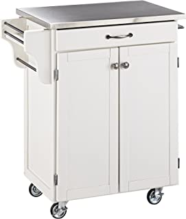 Create-a-cart White with Stainless Steel Top by Home Styles