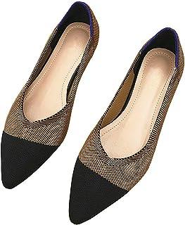 أحذية مسطحة مريحة للنساء قابلة للتنفس شبكة سهلة الارتداء أحذية الباليه للعمل كاجوال