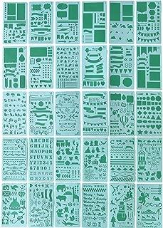 LGEGE 30枚のステンレスシートのテンプレートの手帳の絵画テンプレートDIYアルバムのプラスチックの絵画テンプレートの定期刊行物のテンプレートの絵のツールの日記のテンプレートの図案が豊富です。