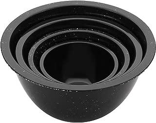Zak Confetti Recycled Plastic Mixing Bowl Black 4 Piece Set
