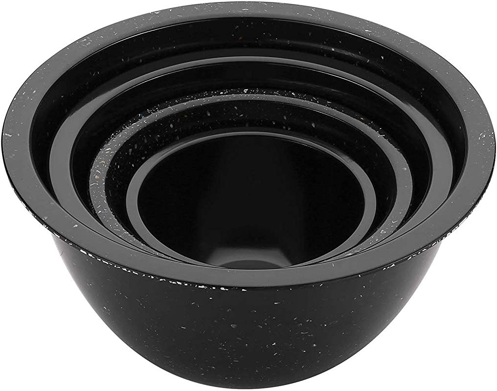 Zak Confetti Recycled Plastic Mixing Bowl Black 4 Piece Set