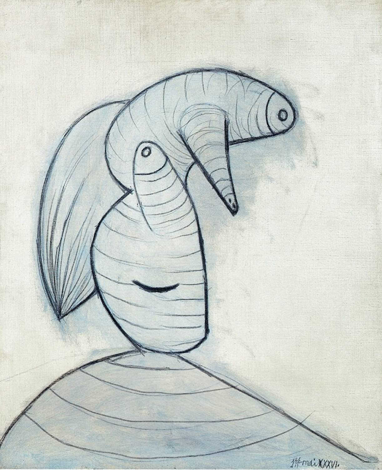 Black Creations Head 1936 Picasso Poster Canvas Picture Picture