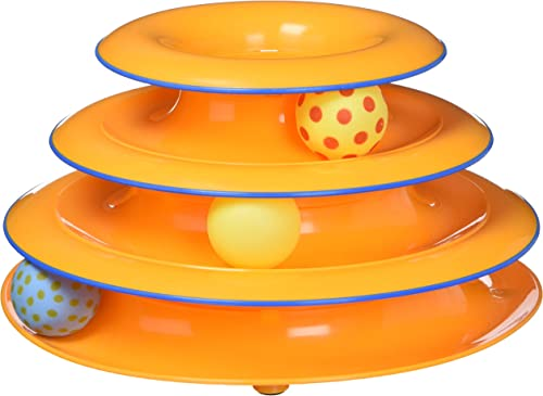 Petstages Tower of Tracks Cat Toy – 3 Levels of Interactive Play – Circle Track with Moving Balls Satisfies Kitty's Hunting, Chasing, and Exercising Needs product image