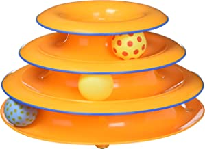 Petstages Cat Tracks Cat Toy - Fun Levels of Interactive Play - Circle Track with Moving Balls Satisfies Kitty's Hunting, Chasing & Exercising Needs