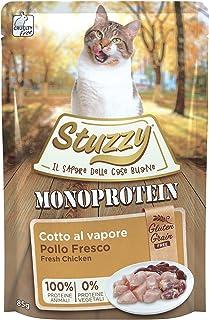 Stuzzy, Comida húmeda para Gatos Adultos, Sabor Pollo Fresco, paté monoproteínico sin Trigo ni Gluten - Total 1,36 kg (16 ...