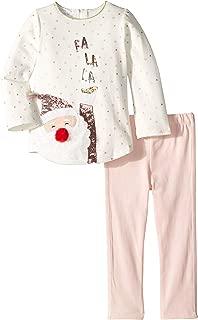 Mud Pie Womens Christmas Santa Tunic and Leggings Two-Piece Playwear Set (Infant)