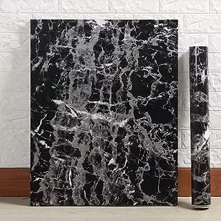 Black Granite Wallpaper Marble Counter Top Film Vinyl Self Adhesive Peel-Stick Wallpaper (17.8