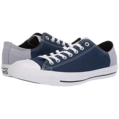 Converse Chuck Taylor(r) All Star(r) Color Block Patch Ox (Navy/Wolf Grey/White) Athletic Shoes