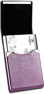 purple business card holder