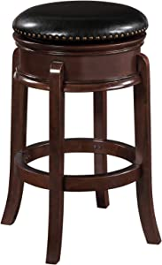 Boraam Hamilton Bar Height Swivel Stool, 29-Inch, Cappuccino