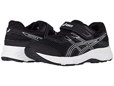 ASICS Kids GEL-Contend 6 (Toddler/Little Kid) (Black/White) Boys Shoes