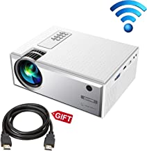 Projector, Queretek Video Projector 2800Lux WiFi Direct, HD Projector Mini Home Theater Projector Support 1080P, with HDMI Cable USB VGA AV, Compatible Laptop Tablet Smartphone Amazon Fire TV Stick