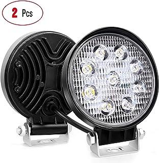 Nilight, 2 Piezas de Barras de Luces LED Redondas de 27W par