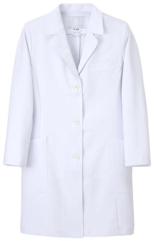 速度相手申し立てられた(ナガイレーベン) NAGAILEBEN 女子 ドクタートップ ドクターコート 長袖 診察着 白衣 DK-3340