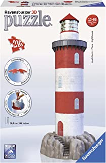 Ravensburger Coastal Lighthouse 216 Piece 3D Jigsaw Puzzle for Kids and Adults - Easy Click Technology Means Pieces Fit Together Perfectly