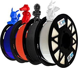3Idea Premium PLA 1.75mm 3D Printer Filament Bundle | Dimensional Accuracy +/- 0.03mm (4KG Total, 1KG/Spool) | 4 Colors (B...
